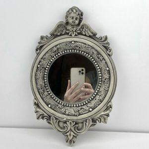 Gorgeous Vintage Hand Carved Chalk Mirror